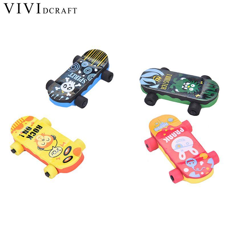 3 Teile/los Vividcraft Kawaii Schulbedarf Radiergummi Skateboard Neuheit Radiergummis Gummi Borrachas Schreibwaren Für Kinder