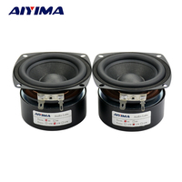 2pcs 3 Inch Full Range Speaker 4 Ohm 10W Speaker Subwoofer Tweeter HIFI Sound Quality Music