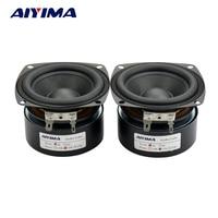 2pcs 3 Inch Full Range Speaker 4 Ohm 10W Speaker Subwoofer Tweeter HIFI Sound Quality Music