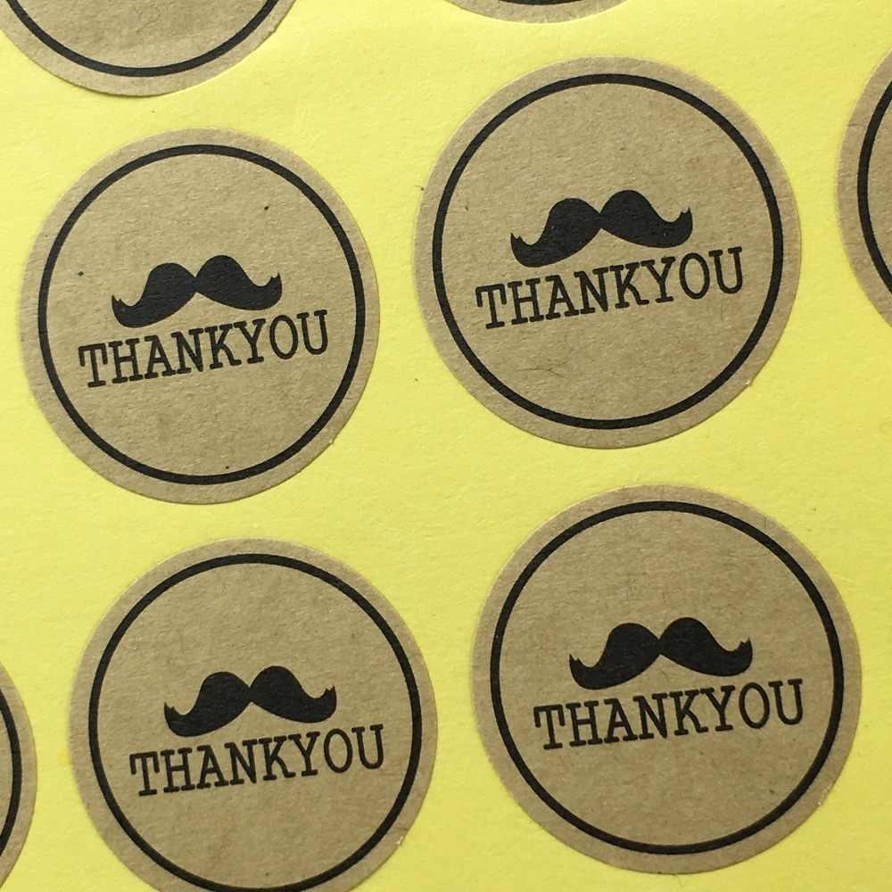 """60 قطعة/الوحدة القطر 3 سنتيمتر """"شكرا لك"""" ملصقات ختم تسميات اليدوية الخبز كعكة ملصقات لحزمة الحب هدية ملصق مخصص شعار"""