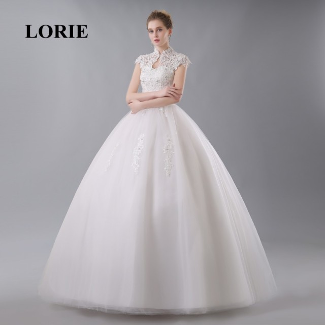 LORIE China Bridal Gown Lace Wedding Dress High Neck Elegant ...