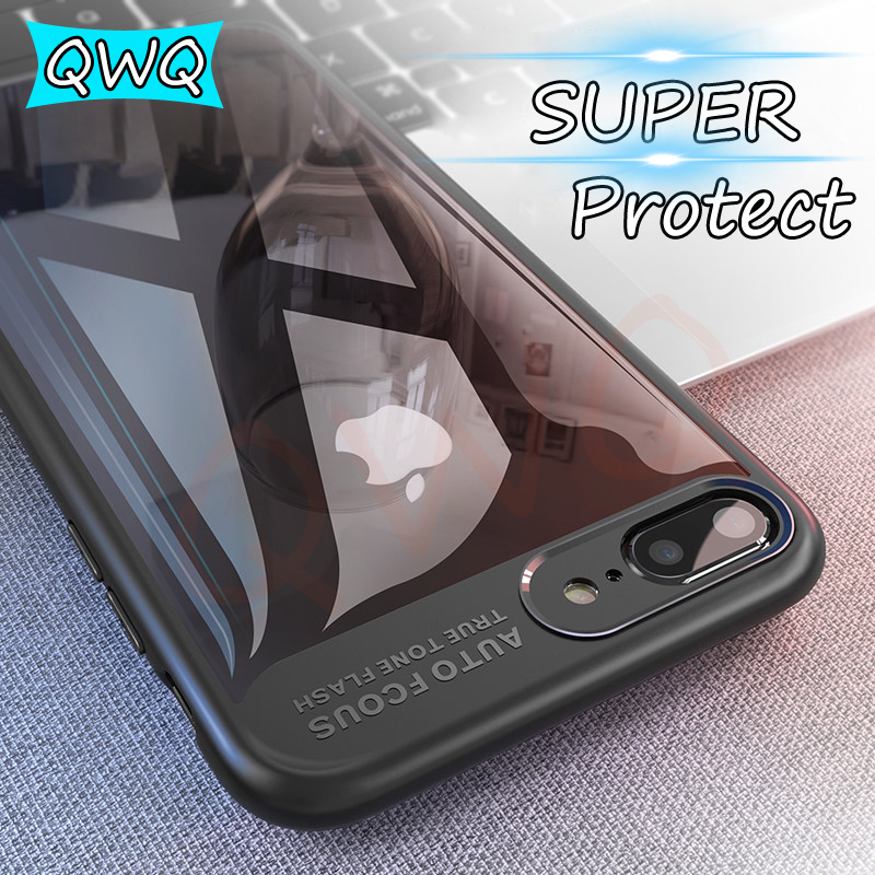 Transparent PC Ultra Thin silm Cases For iPhone 7 Plus Case TPU Silicone Full Protecetive For iPhone 6 Plus Cover Coque Case