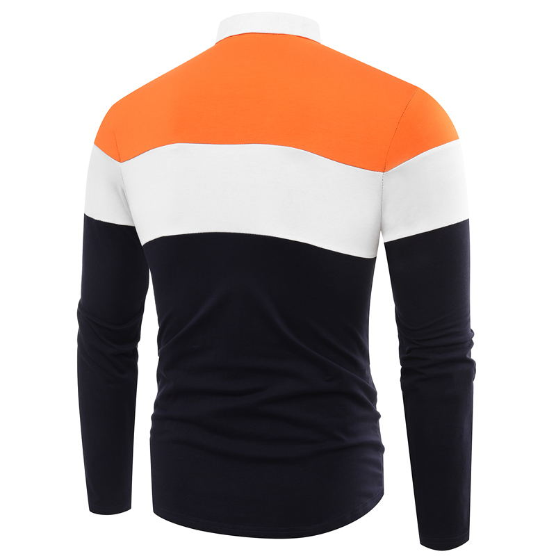 New Brand Men 39 S Long Sleeve Polo Shirt Autumn Full Sleeve Warm Casual Printing Tops Jeans Men 39 S Brand Casual Cotton Polo Shirts in Polo from Men 39 s Clothing