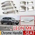 Para Seat Leon 2013-2017 MK3 5F Maçanetas de Cromo Cobre Carro acessórios Adesivos de Carro Carro Styling 2014 2015 2016 ST FR Cupra FR +