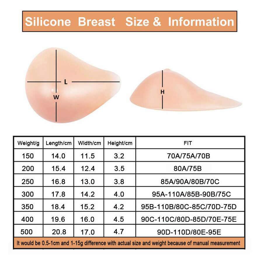Mastectomy seio de silicone, forma de mastectomy, prótese de mama falsa, 500g, almofada macia para mamas d40