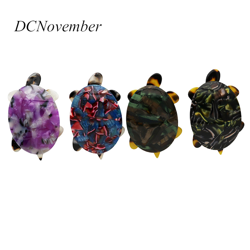 Vintage Turtle 4 Colors Tortoise Brooches Environmental Acetate Fiber Brooch Pins Jewelry DCNovember