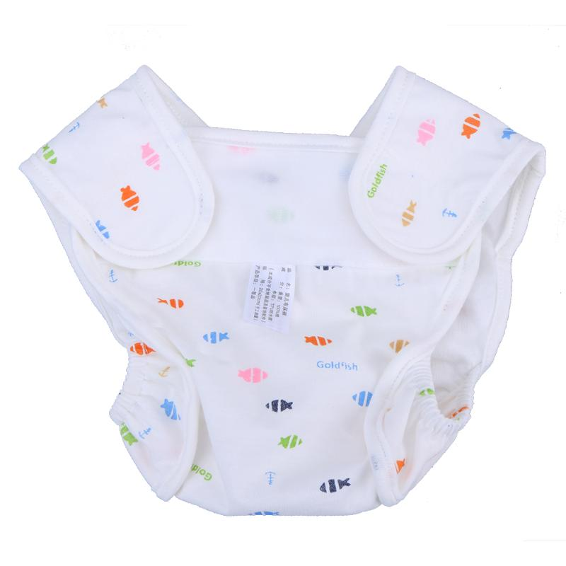 Baby Cartoon Cotton Diaper Printed Anti Leakage Washable Infant Cloth Diapers Newborn Na ...