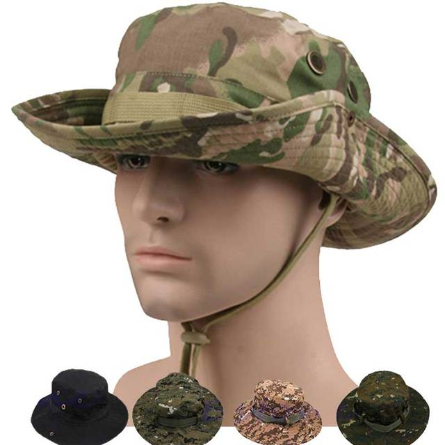 Tactical Airsoft Hunting Military Hat Army Camouflage Boonie Hats Marine  Fishing Camping Sniper Cotton Womens Mens Cap 3f1adda6787
