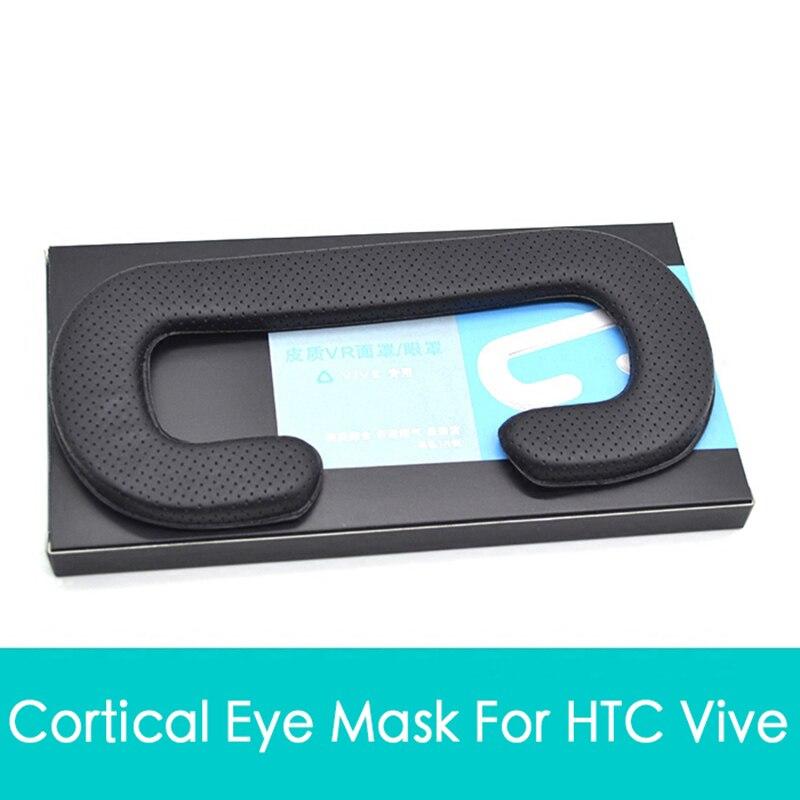 Face Foam Replacement 10mm <font><b>Eye</b></font> pad For HTC VIVE Headset <font><b>VR</b></font> PU Leather Foam Cover Black <font><b>Virtual</b></font> <font><b>Reality</b></font> Accessories (Better FOV)