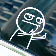 Funny Middle Finger emoji Decals Motorcycle SUVs Bumper Car Window Door Sticker Rear