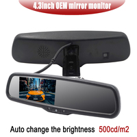 4.3 TFT LCD Car Windscreen Interior Mirrors Rearview Mirror Monitor with Special Original Bracket For Kia Hyundai Ford VW