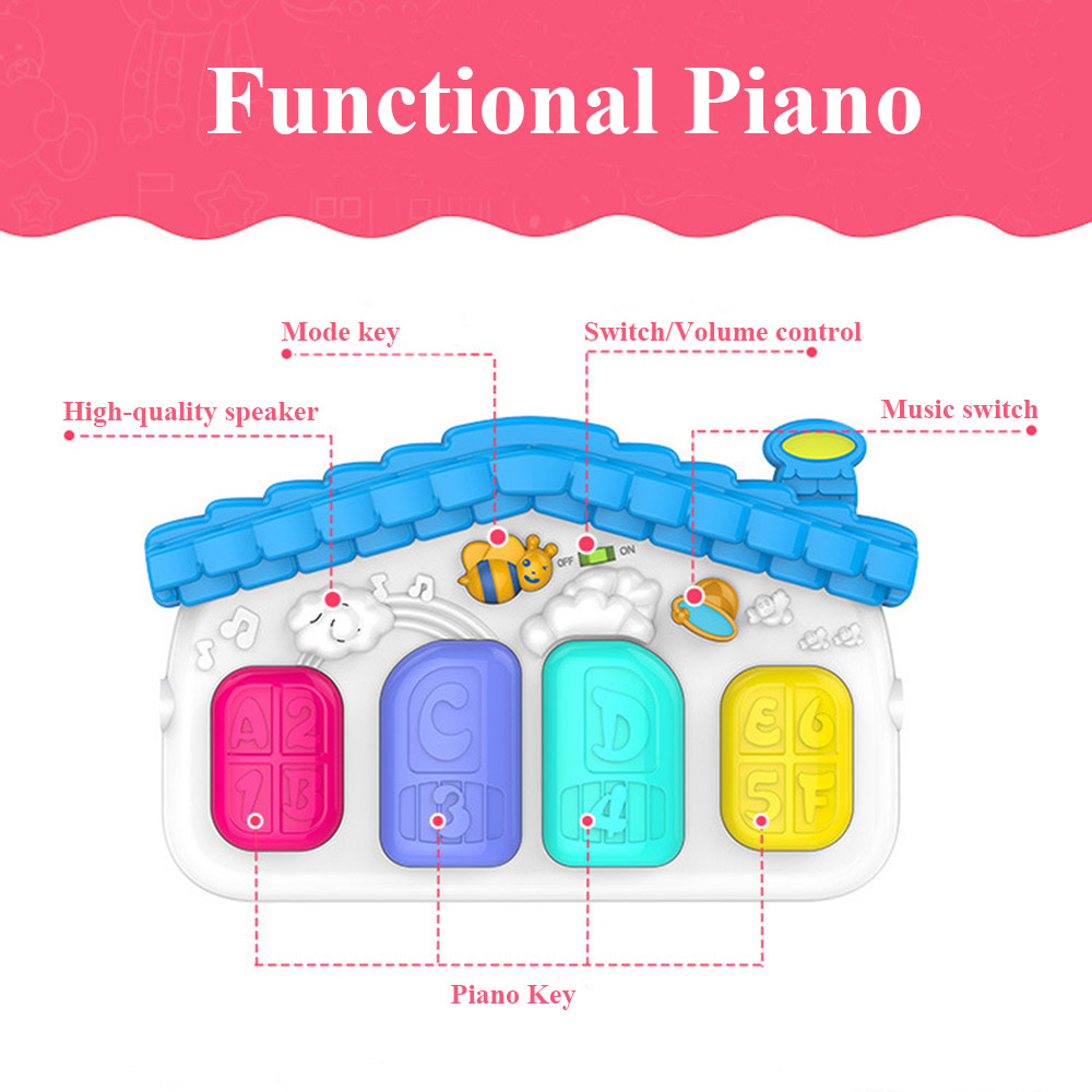 Large Play Puzzles Baby Mat Kids Infant Rug Educational Puzzle Carpet With Piano Keyboard Cute Animal