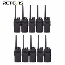 10 шт. 10 Вт DMR радио Retevis RT81 IP67 водонепроницаемый 32CH UHF 400-470 мГц цифровой/аналоговый портативной talkie VOX шифрования A9119A