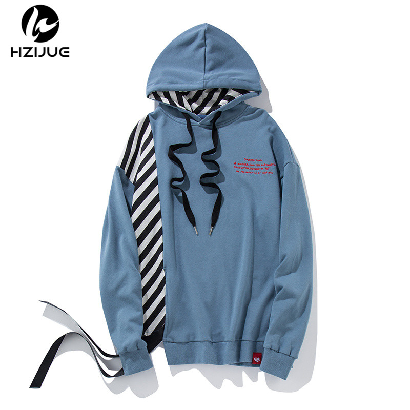 HZIJUE 2017 Autumn hoodies streetwear striped Hoodie winter Women men sweatshirt Man swag Pullover male hooded hip hop hoodies
