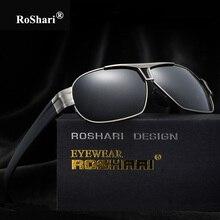 RoShari de calidad Superior gafas de Sol Polarizadas de Los Hombres Diseñador de la Marca polaroid Conducción aviator Gafas de Sol de Los Hombres gafas de sol hombre