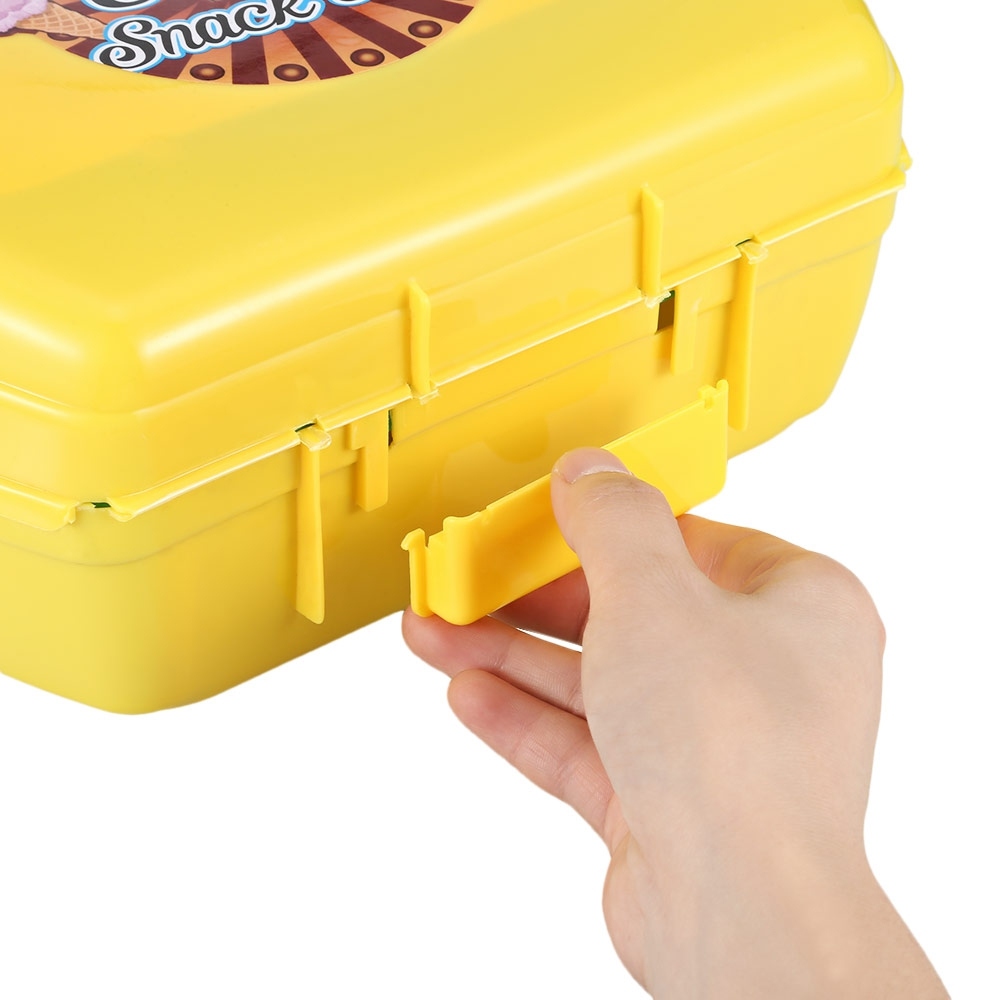 Simulated Portable Colorful Dessert Candy Ice Cream Dough Suitcase Toy Children Pretend Play Set Creative Educational Toys Gifts
