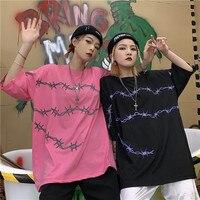 b94ceffc7 Harajuku New Summer Women T Shirts Streetwear T Shirt Loose Short Sleeve  Unisex Tees Couple Clothes. US  19.70 US  13.59. Harajuku Nova Verão  Mulheres ...