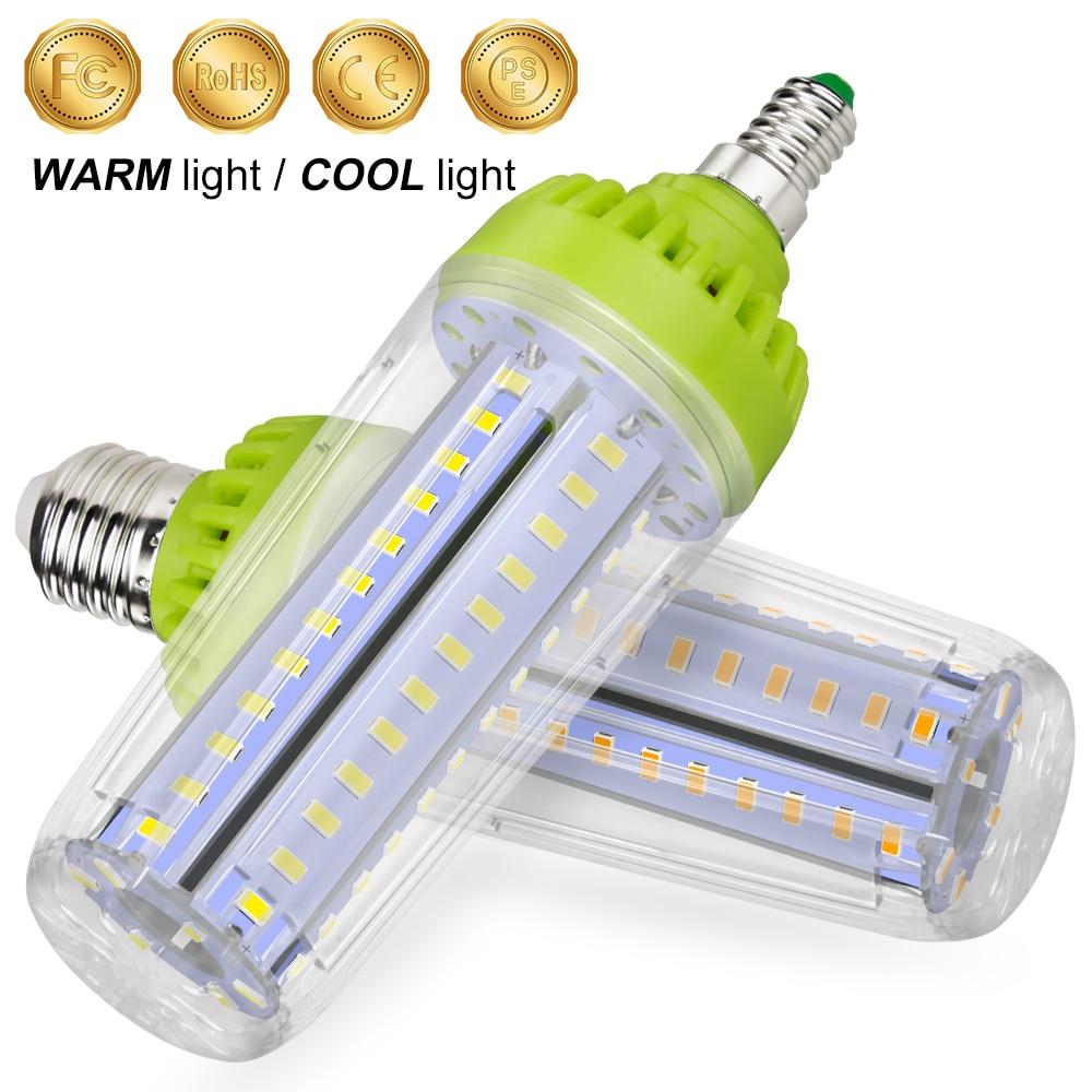 E27 lampe à LED LED ampoule 20W maïs ampoule E14 110V lampe 10W Lampada 15W haute puissance lumière LED 220V Bombilla pas de scintillement éclairage 5736SMD