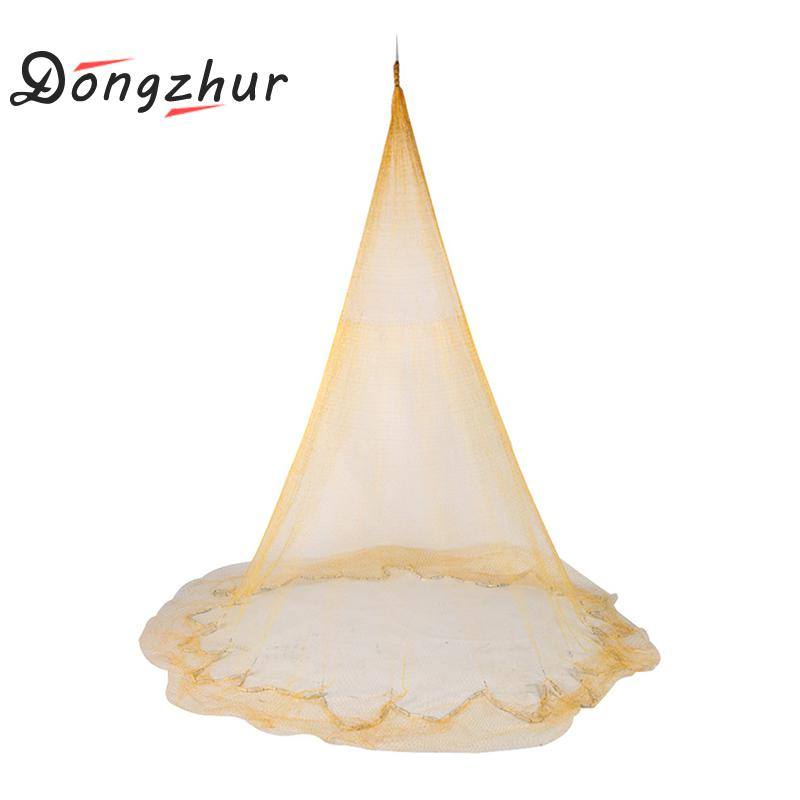 Dongzhur Nylon Hand Cast Fishing Net 2.2m 600 Mesh Machine Woven Foldable Baits Trap Cast Dip Net Crab Shrimp