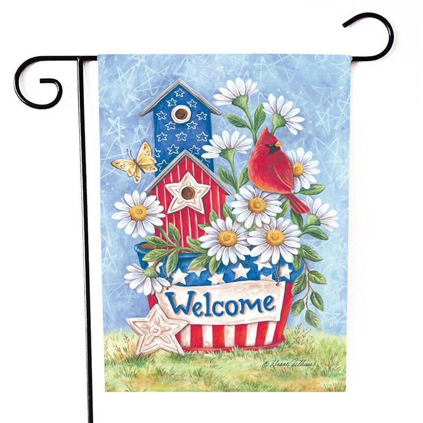 Letters Garden: Garden Flag Welcome Letters Flowers Flag Garden Yard