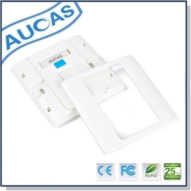 Aucas 4 հատ 1 Պորտ Դեմքի ափսեի - Համակարգչային մալուխներ և միակցիչներ - Լուսանկար 2