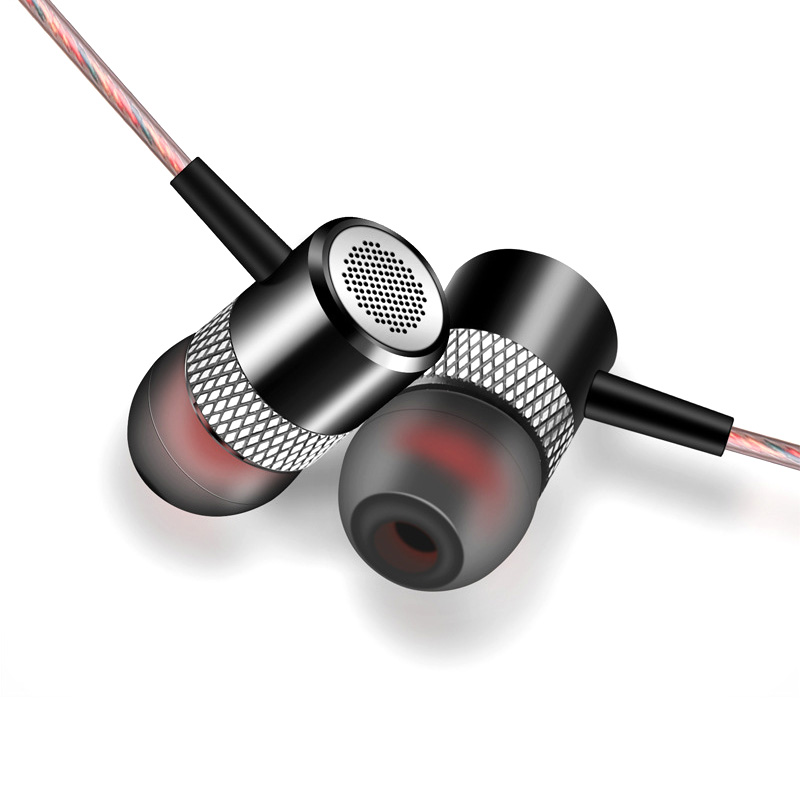 TWOM D02 Metal Piston Earphones In Ear Headset with Microphone Professional HiFi Stereo Mobile Phone Noise Cancelling Earbuds ufo pro metal in ear earphones treadmill female drug sing karaoke audio headset diy mobile phone