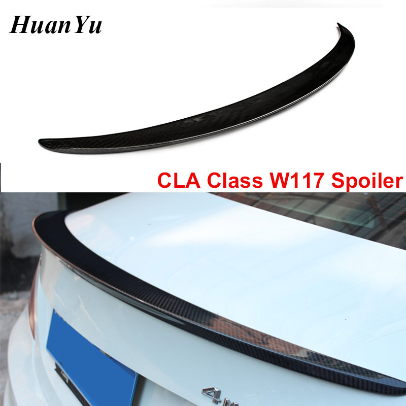 W117 AMG style Carbon Fiber Rear <font><b>Spoiler</b></font> for Mercedes-benz CLA Class Back Rear Duck Wings Lips 2013+ CLA180 <font><b>CLA200</b></font> CLA45 image