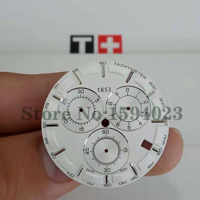 34.8mm watch dial for T035617A six needles male quartz T035 watch text watch accessories T035617 repair parts   Fotoflaco.net