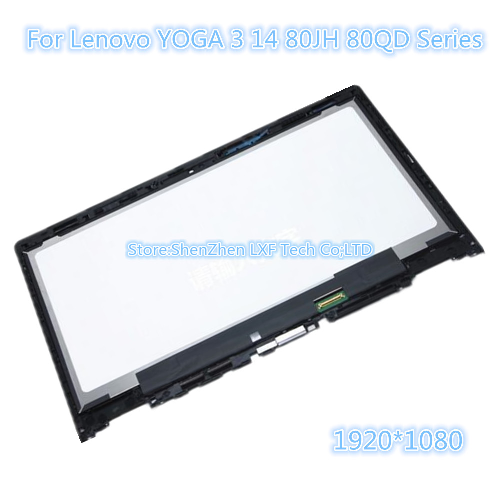 14/'/' LCD Touch Screen Digitizer Assembly Bezel For Lenovo Yoga 3 14 80JH000SUS
