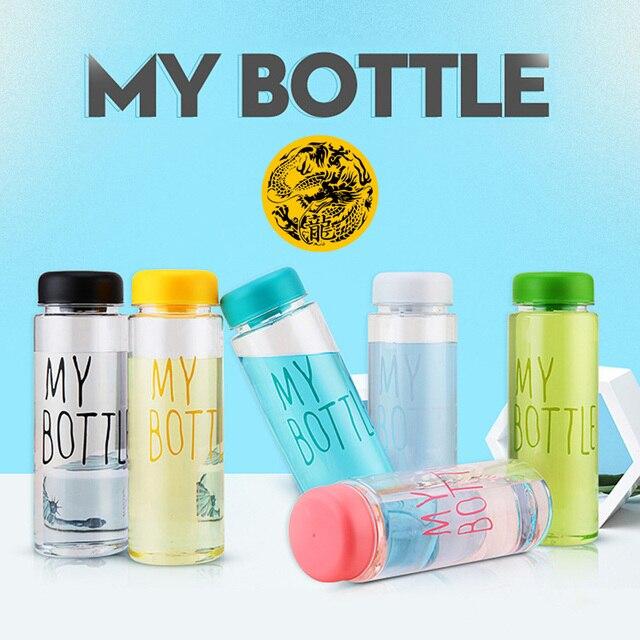 La mia bottiglia di Plastica 500ml PC Bottiglie di Acqua per acqua Trasparente o satinato resistente Al Calore A Tenuta Bottiglia di corsa di colore su ordinazione