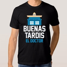 Cool Casual MenS Doctor Who Buenos Tardis El Short Sleeve Printing Machine O-Neck T Shirts