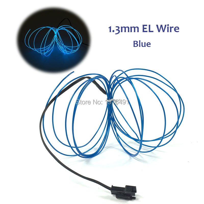 10 colors choice 20M 1.3mm Flexible EL Wire Tube Rope LED Strip ...
