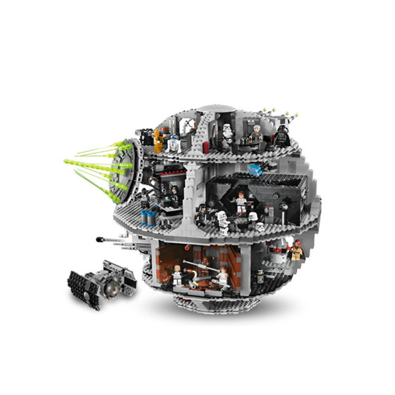 LEPIN 05035 3803 PCS Star Wars Death Star mini figure Model Building Blocks Toys Kids Gift educational for children 10188 цена 2017