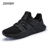 ZENVBNV Men Casual Shoes 2018 Spring Summer Male Design Lightweight Breathable Mesh Trainers Men Fashion Comfortable Flat Shoes