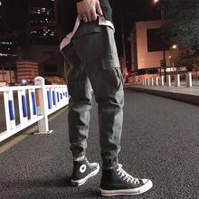 купить Plus Size 5XL Mens Cargo Pants Big Pockets Fashion Black Men ankle banded pants Casual Soft Sport Pant Summer Autumn Trousers по цене 757.66 рублей