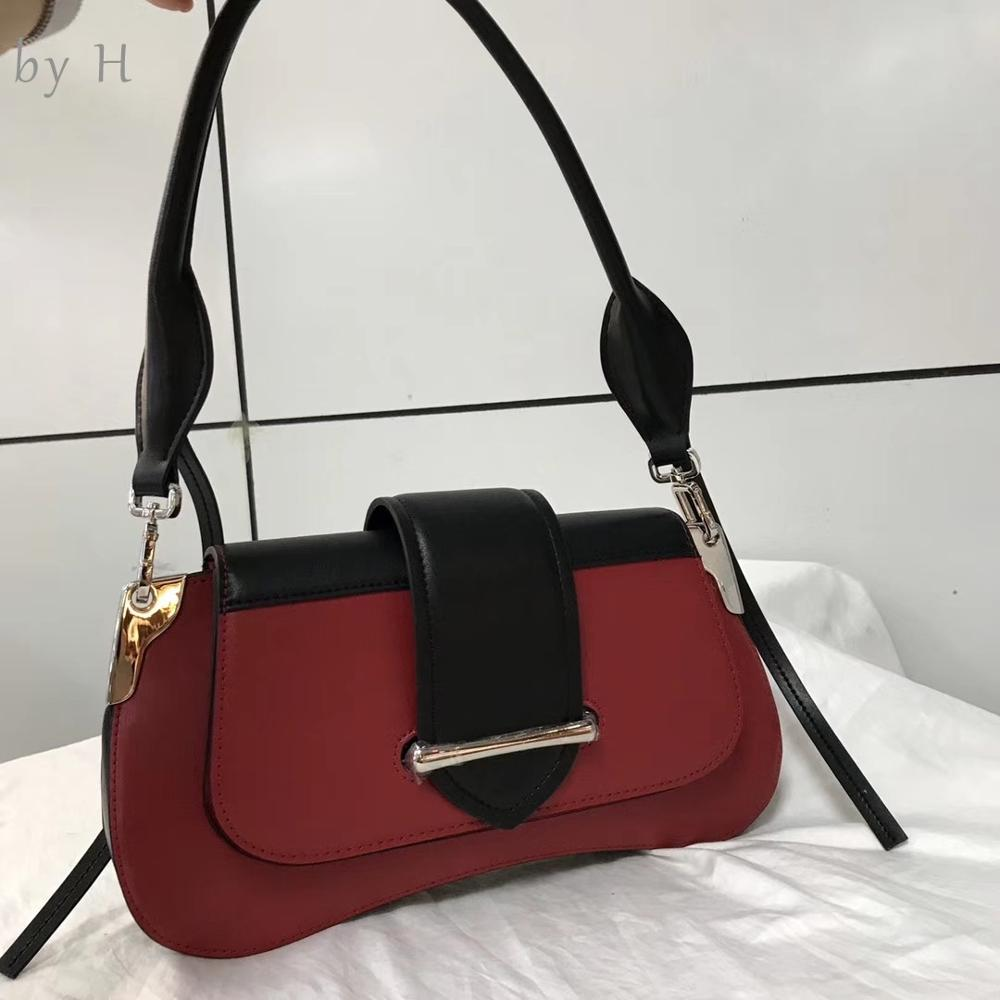 by H 100% cow leather feminists shoulder bag french baguette luxury designers cross body bag chic style clutch ladies handbagby H 100% cow leather feminists shoulder bag french baguette luxury designers cross body bag chic style clutch ladies handbag