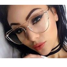 ФОТО frame eyeglasses gold metal for women female vintage glasses clear lens optical frames oculos de grau unisex mirror
