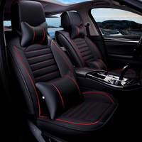 Universal PU Leather Car Seat Covers for KIA K2 K3 K4 K5 Kia Cerato Sportage Optima Maxima Carnival Auto Accessories Car Sticker