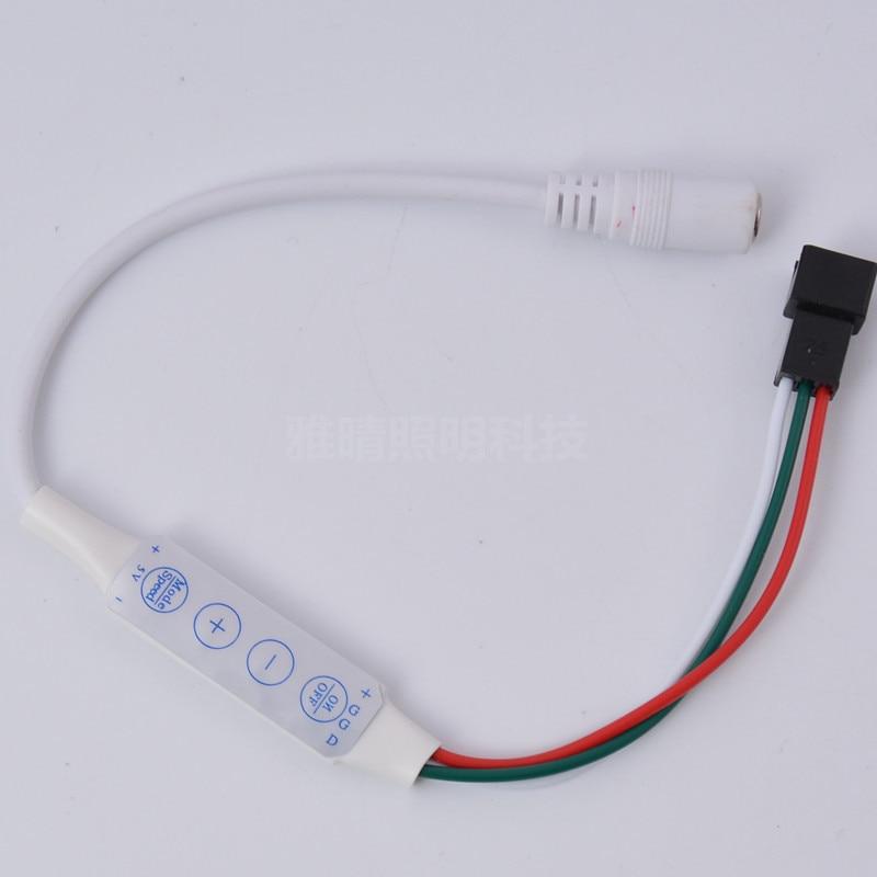 Expédition rapide 20 pièces Mokungif 4 clé 3Pin DC sortie LED Mini contrôle pour WS2812 WS2812B SK6812 LED contrôleur de bande DC5V DC7 ~ 12 V