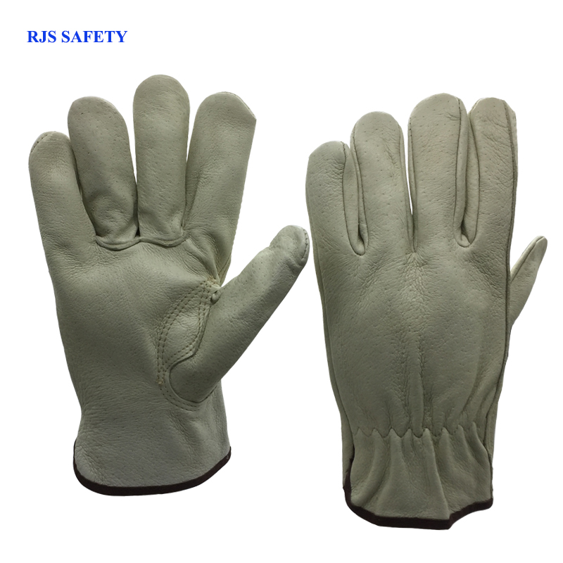 Men's Safety Work Gloves Pigskin Leather Working Welding Gloves Safety Protective Garden Sports MOTO Wear-resisting Gloves 4022 50pcs disposable safety protective latex for home cleaning industria rubber long female kitchen wash dishes garden work gloves a