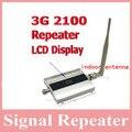 Wcdma 2100 mhz 3g señal de teléfono celular repetidor de señal amplificador booster con pantalla LCD 3g con antena interior 500 Metros Cuadrados