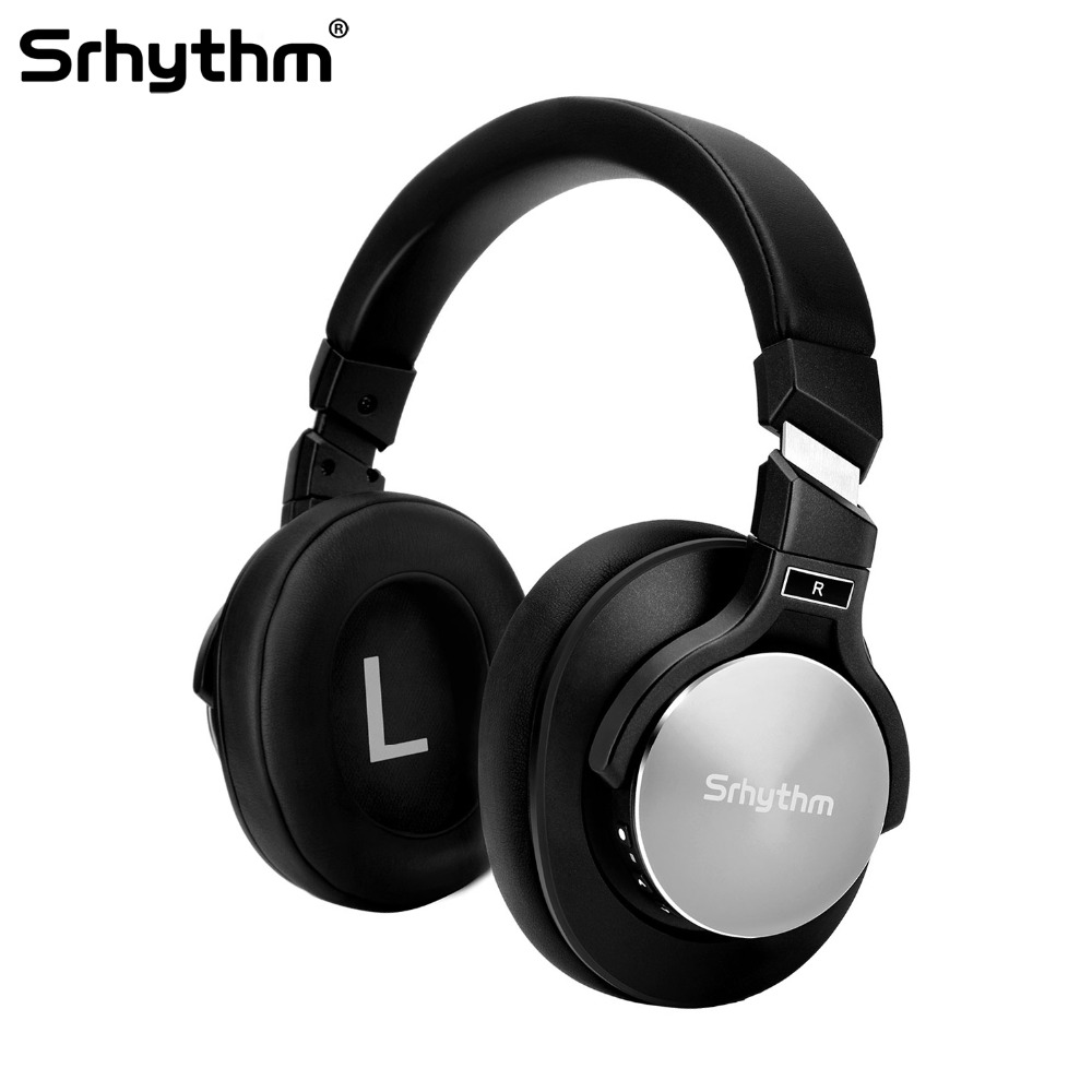 цена на Bluetooth wireless Noise Cancelling Headphones deep Bass Stereo Over ear Earphones ANC Hifi Foldable headset with microphone