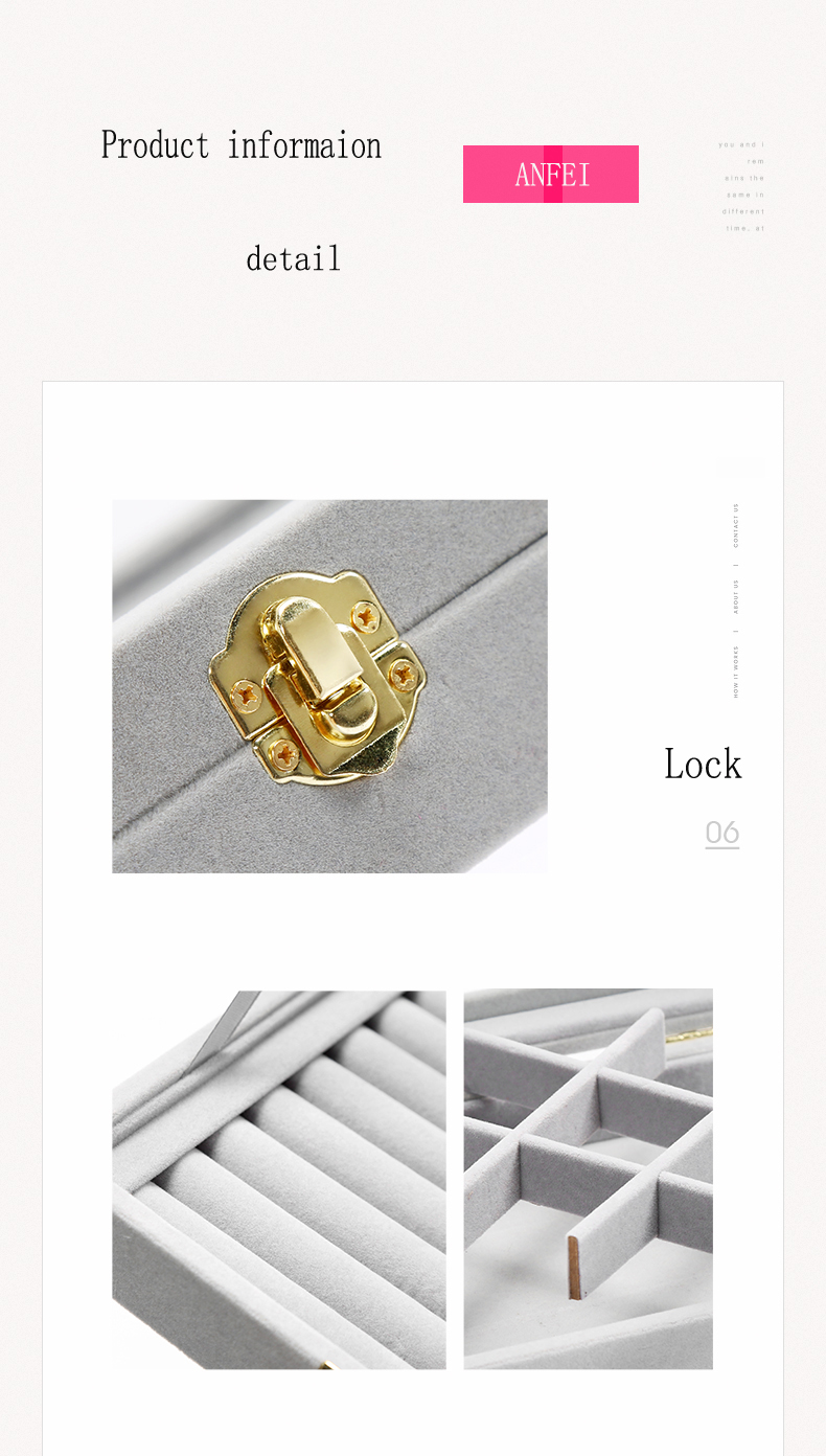 ٩(^‿^)۶Anfei caja de terciopelo joyería anillos pendientes collares ...