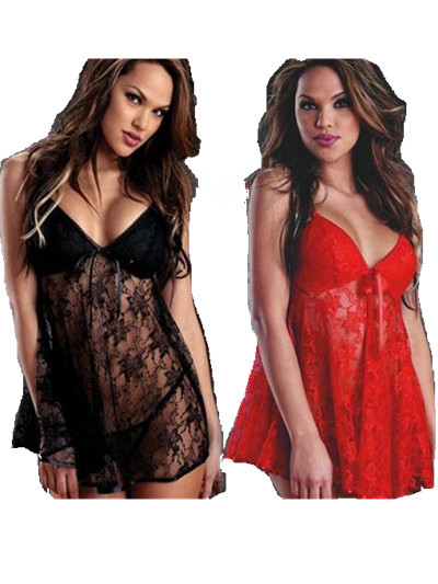 d57dfb7675d Hot Sexy Lingerie Plus Size Sexy Night Dress Sexy Clothing Set Sexy  Sleepwear Pajamas For Women S M L XL