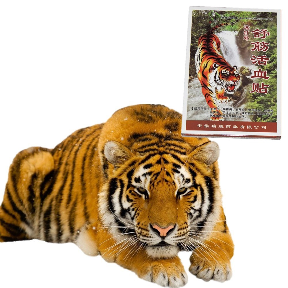 4pcs/pack Wild Tiger Bone Essential Oil Balm Plaster Pain Patches For Chronic Pain Back Lumbar Spine Pain Medical Patches Good For Energy And The Spleen Skin Care Beauty & Health