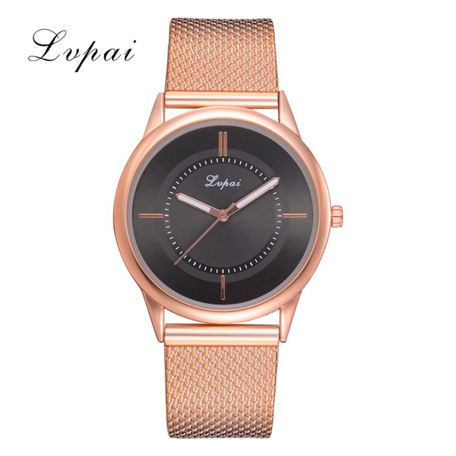 Lvpai Brand Ladies Watches Watches Women Big Round Dial Quartz Concise And Easy