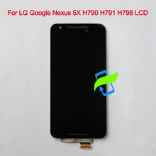 цена на 5.2 Original Display For LG Google Nexus 5X H790 LCD Touch Screen Digitizer Assembly with Frame LG Nexus 5X H791 H798 Display