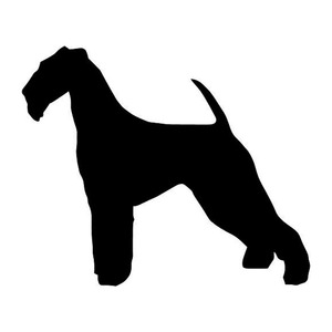 11.3*9.5CM Airedale Terrier Dog Vinyl Decal Personality Car Tail Stickers Car Styling Bumper Decoration Black/Silver S1-0475(China)
