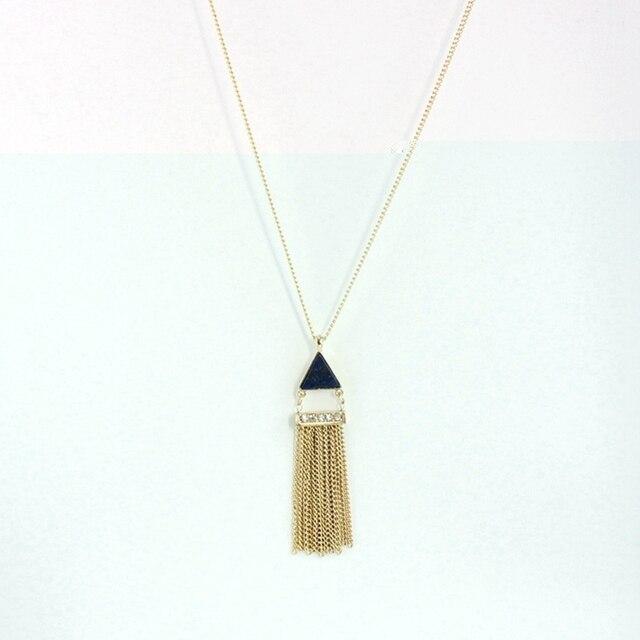 кисточка золотого цвета chicvie ожерелье с кулоном из натурального фотография