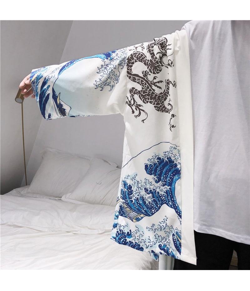 HTB1o0SWlZIrBKNjSZK9q6ygoVXa9 Zongke Japanese Kimono Cardigan Men Wave and Carp Print Long Kimono Cardigan Men Thin Mens Kimono Cardigan Jacket Coat 2018
